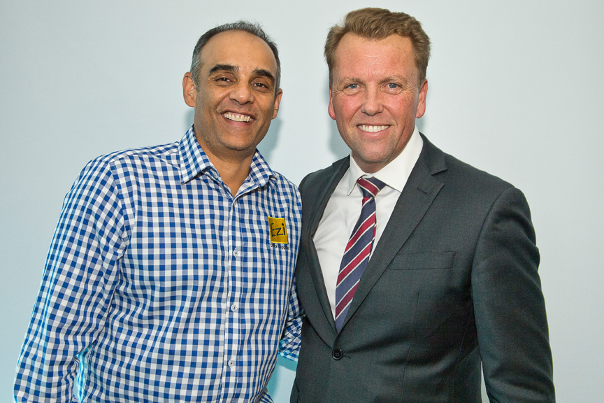 Ajay from Ezi Office Supplies and Hon. Scott Emerson, MP.