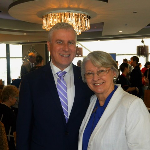 Hon. Michael McCormack MP and Anne Nalder