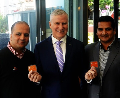 Hon. Michael McCormack with Ken and Faisal