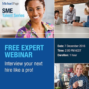 Free Michael Page SME Recruitment Webinar